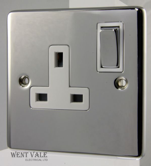 Heritage Brass Gala Elite Range - C22.840.PCW - 1 Gang Switched Socket